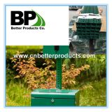 perforated steel square sign post for dog waste station