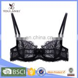 The Latest Modern Spandex Polyester Back Closure Active Black Brassiere