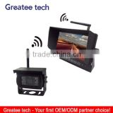 7 inch wireless car rearview camera system with wireless ccd camera for bus/truck