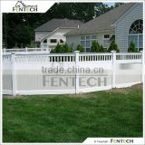 Fentech White and Gray Color Privacy PVC Vinyl Fence for Garden, Yard
