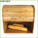 2 Tier Rolltop Bread Storage Box/Bamboo Bread Bin and Container/Homex_FSC/BSCI Factory