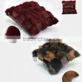 Hot!! very comfortable red fox fur pillow/cushion