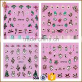 3D French Nail Sticker Christmas Snowflakes Nail Manicure Decals for Decoration