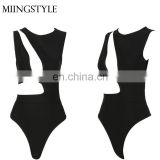 latest design halter sexy black women sexy bandage bikini for lady