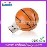Promotional gift basketball <b>usb</b> flash <b>drive</b> with <b>keyring</b>