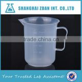 PP Plastic Beaker with Handle,Plastic Measuring Cups with Handle