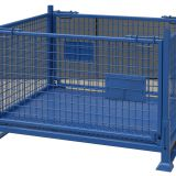 Foldable Steel Galvanized Wire Pallet Cage Warehouse Storage