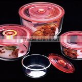 High Borosilicate Glass Food Container with Lid