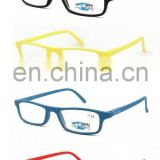 2017spring high quality style pure color rectagular PC reading glasses