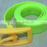 good price eco-friendly 1.5 meters color silicone belts for man