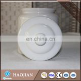 Sublimation Ceramic cookie jar with lid and plastic ring inside lid