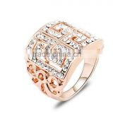 White Diamond Gold Ring Jewelry Supplier, 14k Rose Gold Snake Ring Jewelry, Fashion Design Party Wear Gift Gold Ring