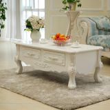 Exquisite living room furniture antique european style center table carving modern luxury