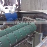 Bag making machine use spring slotted rubber roller