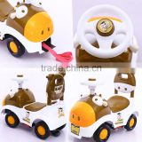factory price children's toy kids slide car ride on cow shape design