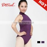 D005523 Pictures of sexy girls wearing jumpsuit purple halter sleeveless wholesale gymnastics leotards