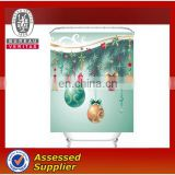 China Factory Christmas Bath Shower Curtains