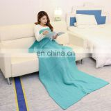 100% acrylic knitted keep warmer square blanket