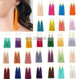 New Bohemian Style Long Tassel Dangle Fringe Hook Earrings Gift