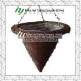 Brushwood cone shape Hanging Baskets