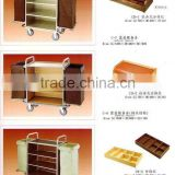 hotel service trolley ,hotel house keeping cart, hotel maid cart,hotel supply,hotel products,hotel toiletry,hotel consumable