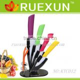 Ceramic kitchen knife set with Acrylic block.