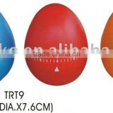 Colorful egg shape plastic countdown kitchen timer/mechanical timer