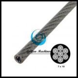 Vinyl Coated Galvanized Steel Cable 7x19-Aircraft Cable(Linear Foot)