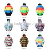 GS High quality waterproof ski snow wear lady's and men's colorful snow winter jacket