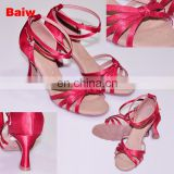 08B5L122 Women's Satin Latin Dance Shoes