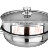 double use good cook of the stainess steel cookware with glass