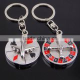 Customized fashion Macao roulette keychain