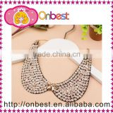 fashion detachable pearl collar neck design ladies