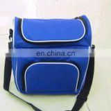 Blue Shoulder Polyester Cooler Picnic Bag