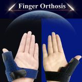Cotton Neoprene medical trigger finger splint with aluminium alloy sheet for treating finger stiffness,pain,orthosis