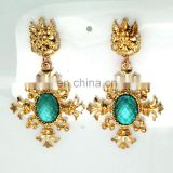 New arrival excellent quality dangle rhinestone earrings from China JE2412