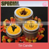 Tin candle for Halloween favor
