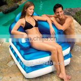 Inflatable Single Foldable Chair plastic sun Lounger