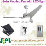 vent goods ceiling rechargeable solar battery powered cooling fan DC (Brushless motor) fans