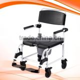 LIGHT WEIGHT ATTENDANT SHOWER CHAIR/COMMODE CHAIR
