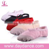 Standard Girls Baby Kids Ballet Slippers Wholesale Split Soft Sole Ballet Dance Shoe Red Black White Beige Pink