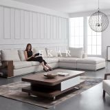 Latest Designs Sectional Fabric Living Room Furniture L Shape Sofa