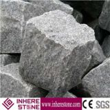 G654 Courtyard Road Pavers,Granite Exterior Pattern Cube Stone,Grey Granite Cobble Stone