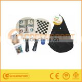 wooden beach racket with ball game set / chess game set / wooden