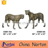 Norton Wild pairs of cheetah sculpture brass NTBA-C008Y