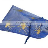 china wholesale for christmas gift bag organza bag with logo printing