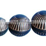 Metal Decorative Spheres , hammered pattern Set of 3 sizes