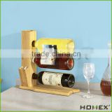 Bamboo red wine holder /countertop wine display holder Homex-BSCI