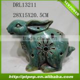 Factory Selling Antique Small Glazed Ceramic Rabbit