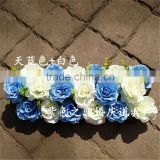 SJ0060051 2017 Hot sale silk and plastic flower wall indoor for weeding decoration